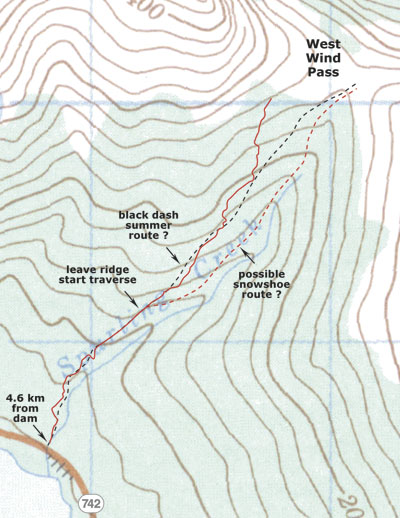 West Wind Pass map