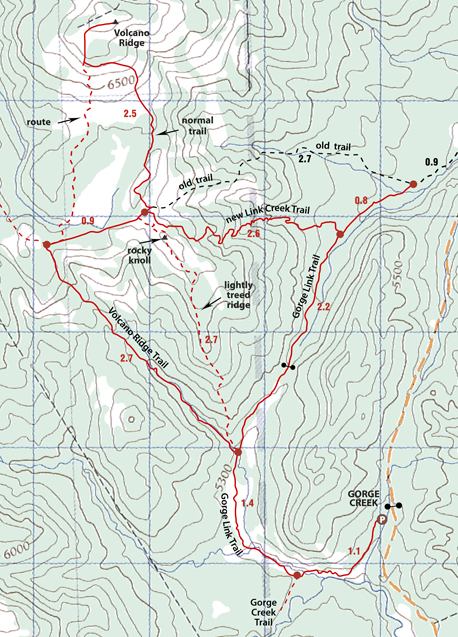 Volcano Ridge map