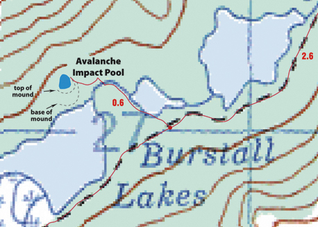 Burstall Lakes map