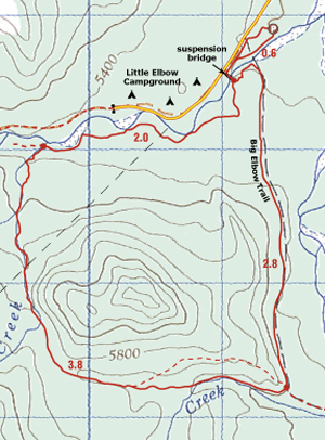 Glasgow Creek Trail Map