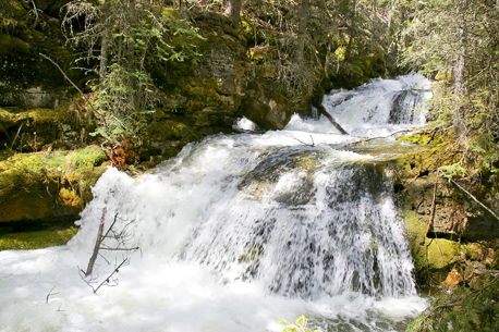 One of the smaller falls on Marmot Creek