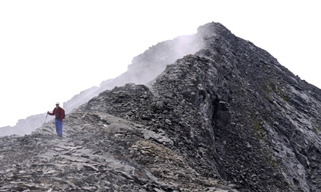 The second top. The true summit is hidden behind it.