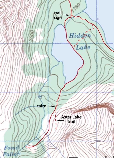 Hidden Lake Map