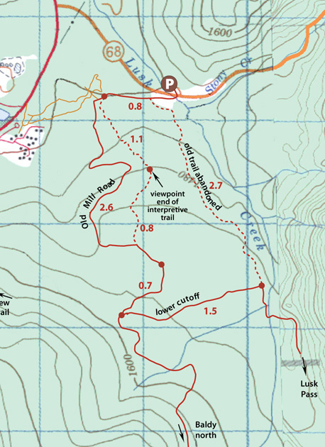 Lusk Creek Map