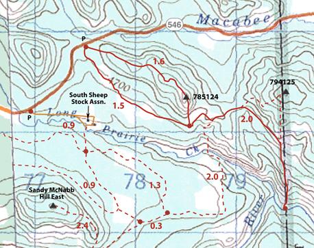 Long Prairie Hills map