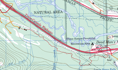 Stewart-Deadmans Flats Trail map