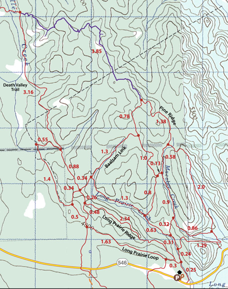 McNabb Trails North map