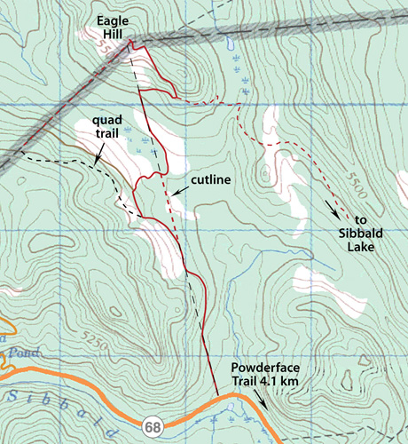 Eagle Hill Snowshoe map