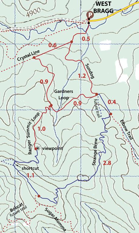 Ranger Hill Snowshoe Map
