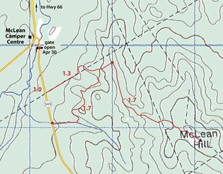 McLean snowshoe map