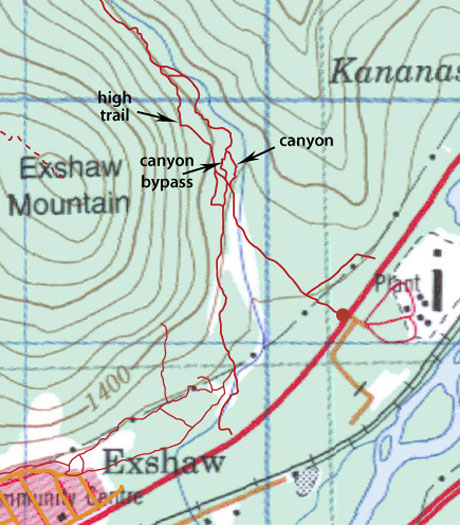 Jura Creek map