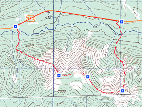 Odlum Ridge Topo Map