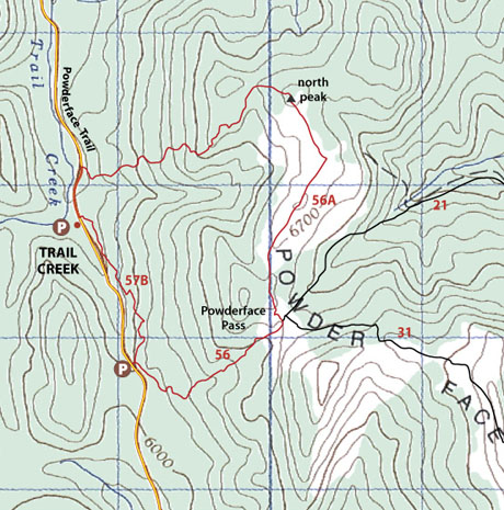 North Powderface Map