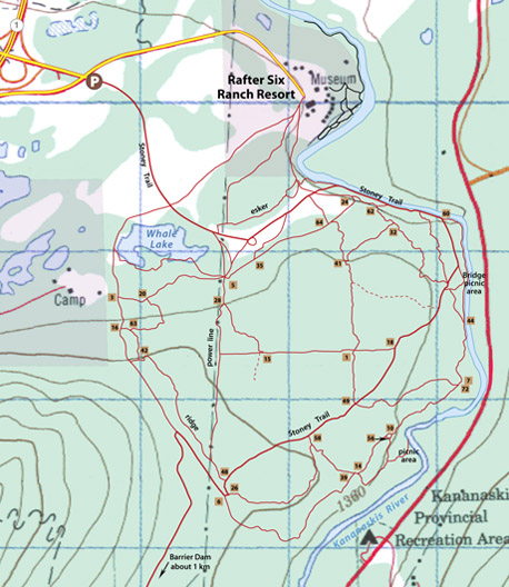 Bow Valley South map
