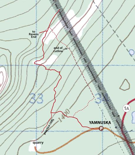 Yam E ridge winter map