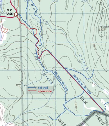Elk Pass map