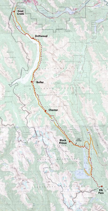 High Rockies Trail Map