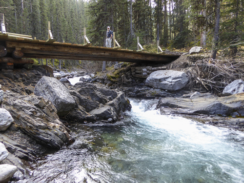 The bridge over Ribbon Creek at Link