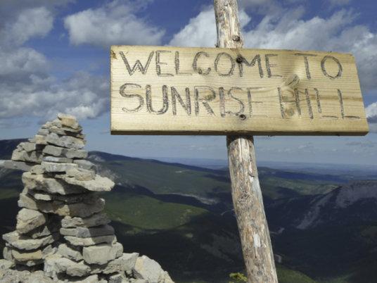 Rainy Summit Ridge-sign