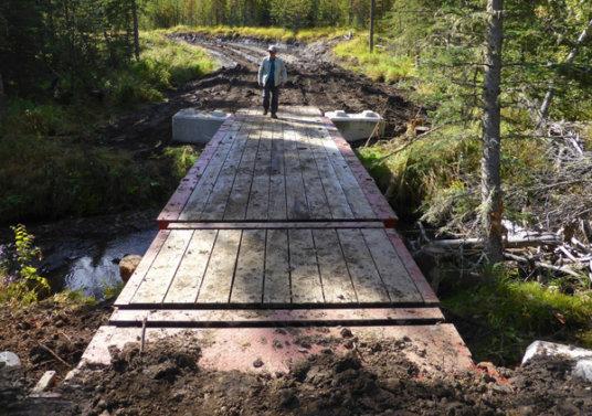 Constructing a new bridge on Mountain View.