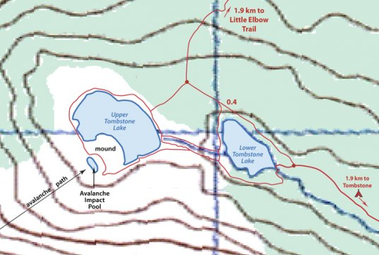 Tombstone Lakes map