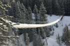 Snowshoeing the High Rockies Trail & the Blackshale Suspension Bridge