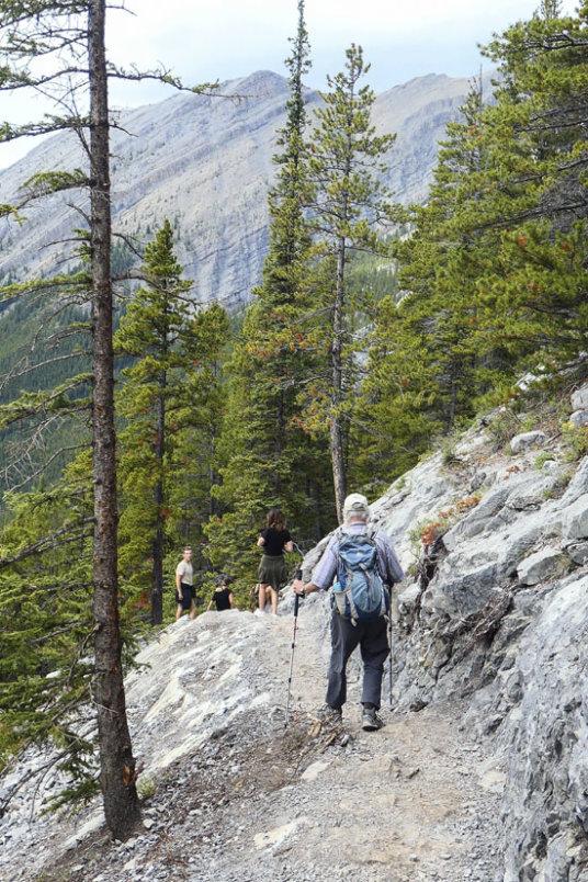 Returning along the rock cut.